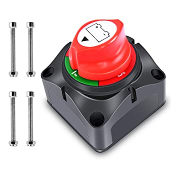 Battery Switch 12V-36V Large Current Knob Battery Power Cutoff Master Switch Disconnect Isolator for Yacht Car Vehicle