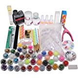 SODIAL Nail art kits Nail Care Nail Design Nail Acrylic Powder Brush Glitter Tip Tools