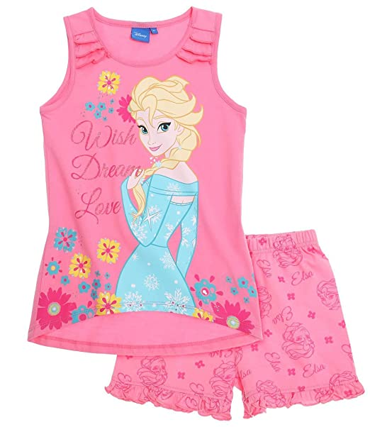 Pijama corto tirantes Niños Frozen Elsa Rosa 4 A 10 Años Rosa rosa