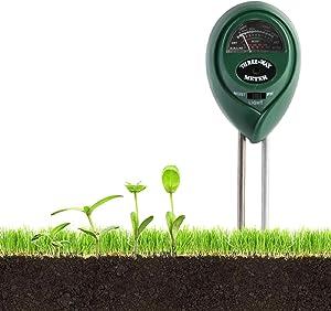 Dr catch Soil PH Meter, 3-in-1 Soil Moisture/Light/pH Tester Gardening Tool Kits for Garden, Farm, Lawn, Indoor & Outdoor (No Battery Needed)
