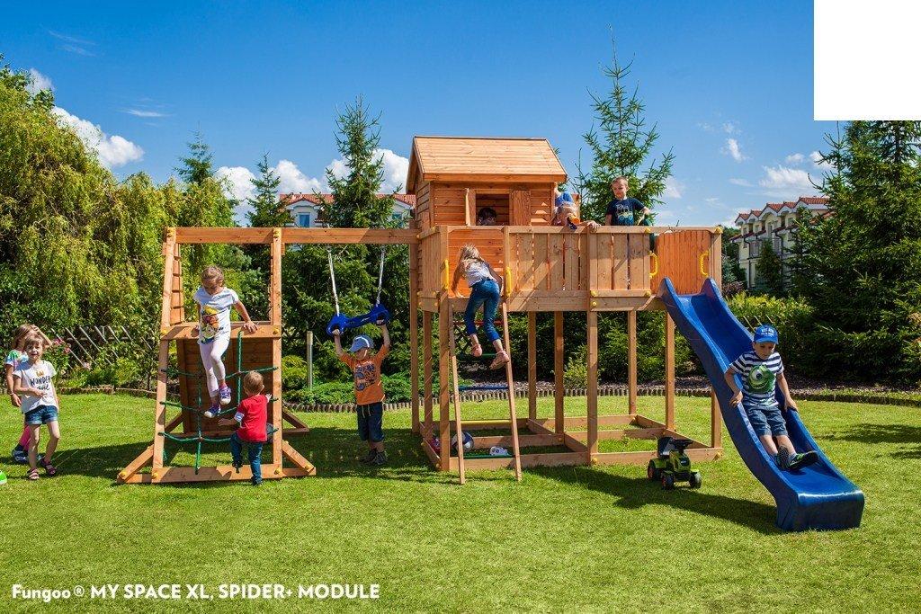 Spielhaus MYSPACE XL -SPIDER- Podesthöhe 125 145 cm 2,90 m Rutsche Schaukel