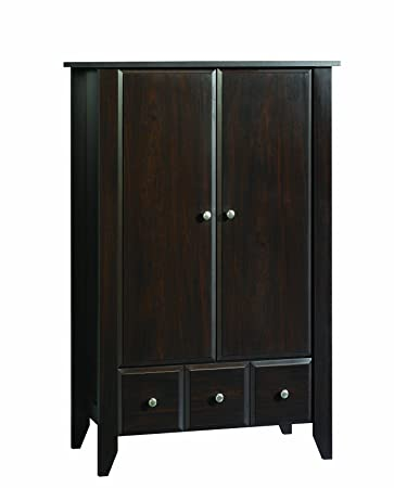 Child Craft Shoal Creek Ready To Assemble Armoire, Jamocha Wood Finish
