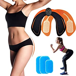 Ben Belle Abs Stimulator,Butt Hip Trainer,Muscle Toner Fitness Training Gear,Home Office Excercise Equipment,Ab Trainer Workout Equipment Electric Machine for Women Men
