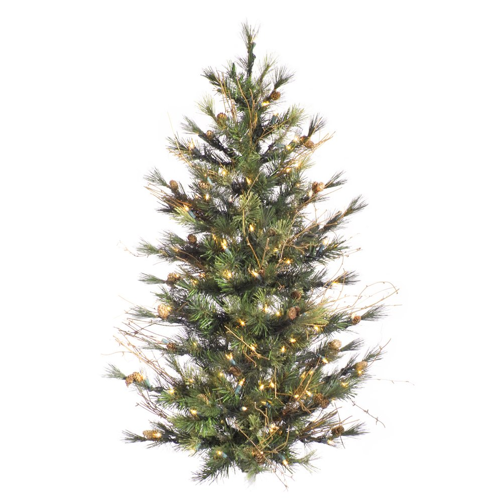 Vickerman 3' Mixed Country Wall Tree with 100 Clear lights