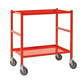 Mesa carrito transportador (Piso carro carrito   kommi sionier carro con 2 estantes, apta para cajas con la Medidas 600 x 400 mm: Amazon.es: Bricolaje y ...