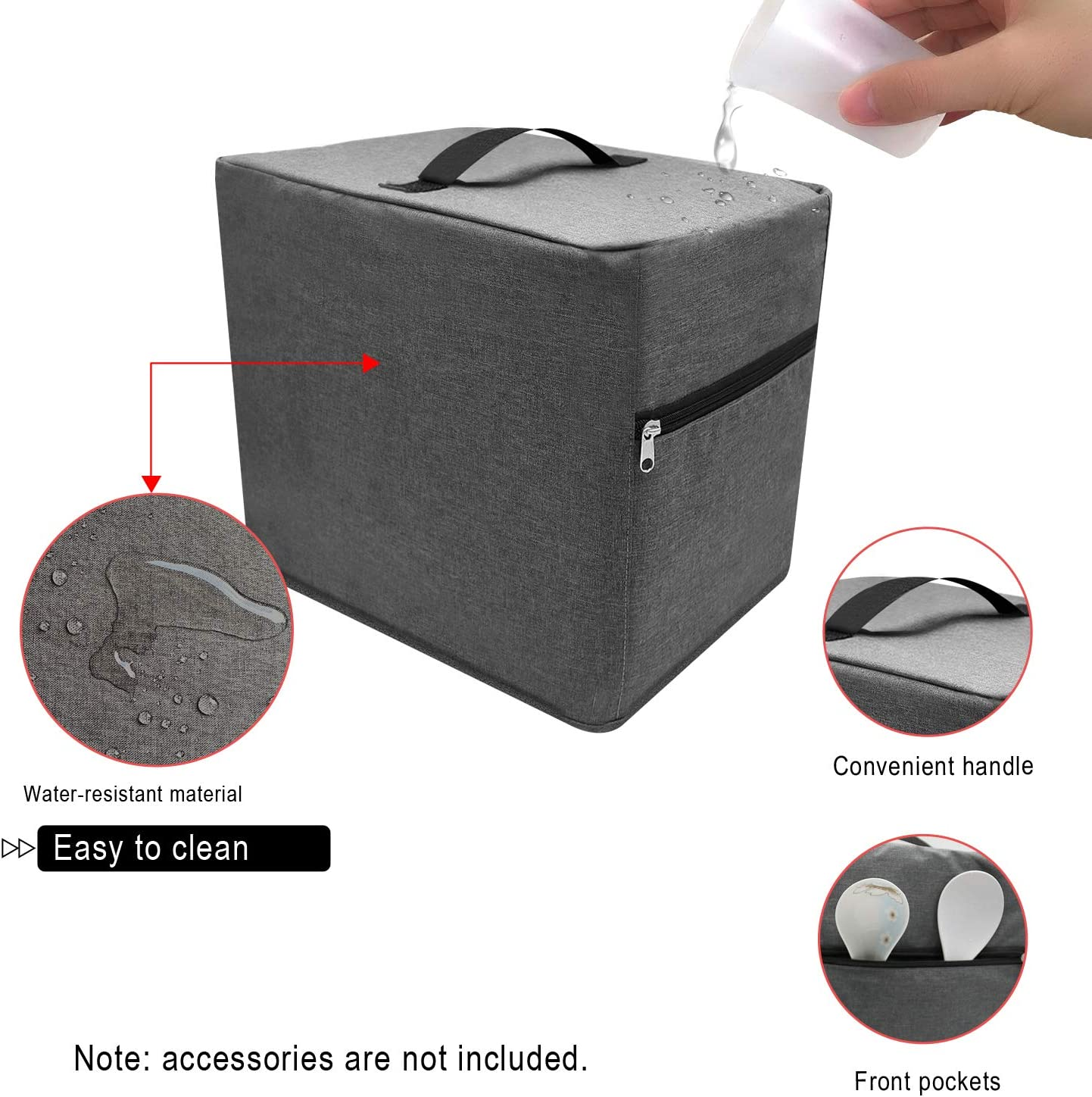 HOHUO Air Fryer Dust Cover with 2 Zippered Accessory Pocket Compatible with Philips /& Cosori Air Fryer Grey, FIT FOR 2.8-4.8 QUART AIR FRYER