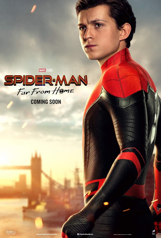 Amazon Com Tomorrow Sunny Spider Man Far From Home 2019 Movie Poster Tom Holland Jake Gyllenhaal Art Print 24 X36 C Posters Prints
