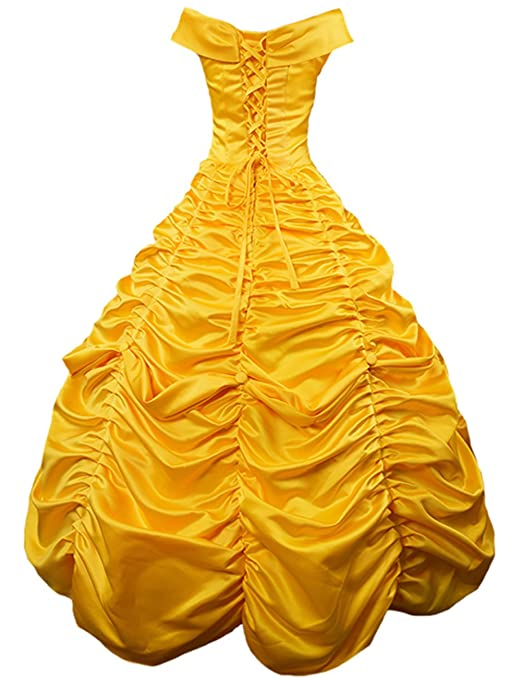 Amazon.com: Womens Floor Length Layered Princess Costume Lace up Ball Gown Prom Long Dresses Gloves: Clothing