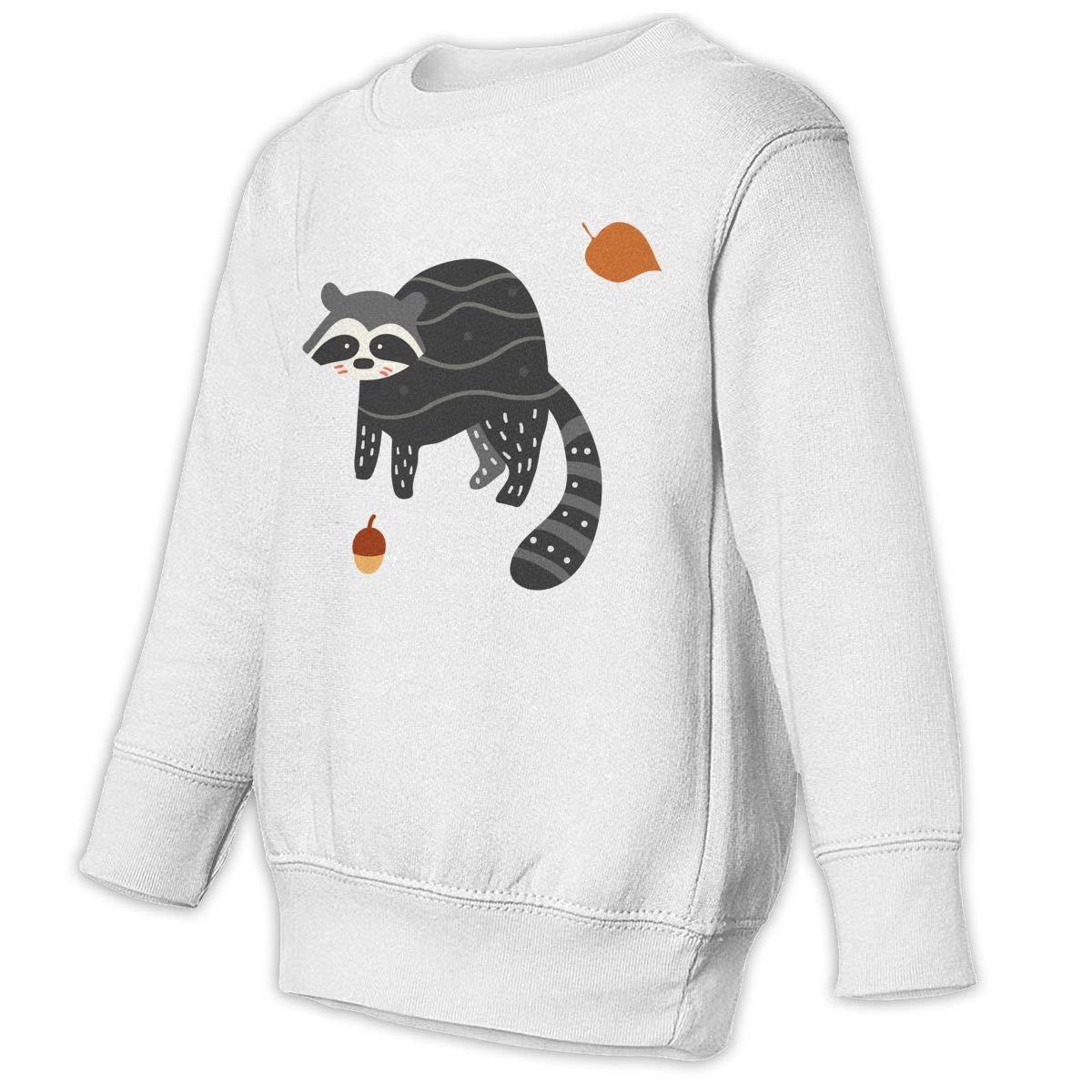 Raccoon Unisex Toddler Hoodies Fleece Pull Over Sweatshirt for Boys Girls Kids Youth