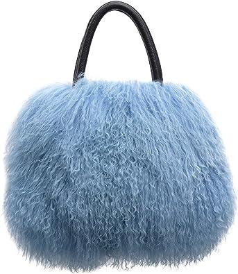 UK Kids Fashion Girls Faux Fur Furry Purse Cross body Shoulder Bag Tote Cute