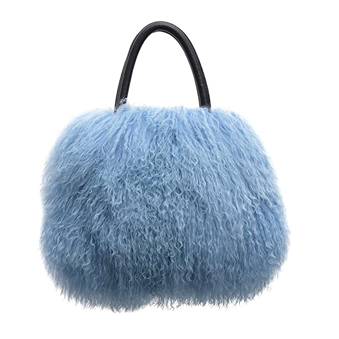 Amazon.com  URSFUR Women s Mongolian Lamb Fur Handbag Ladies Winter  Shoulder Tote Bags Girls  Clothing a879516614ef1