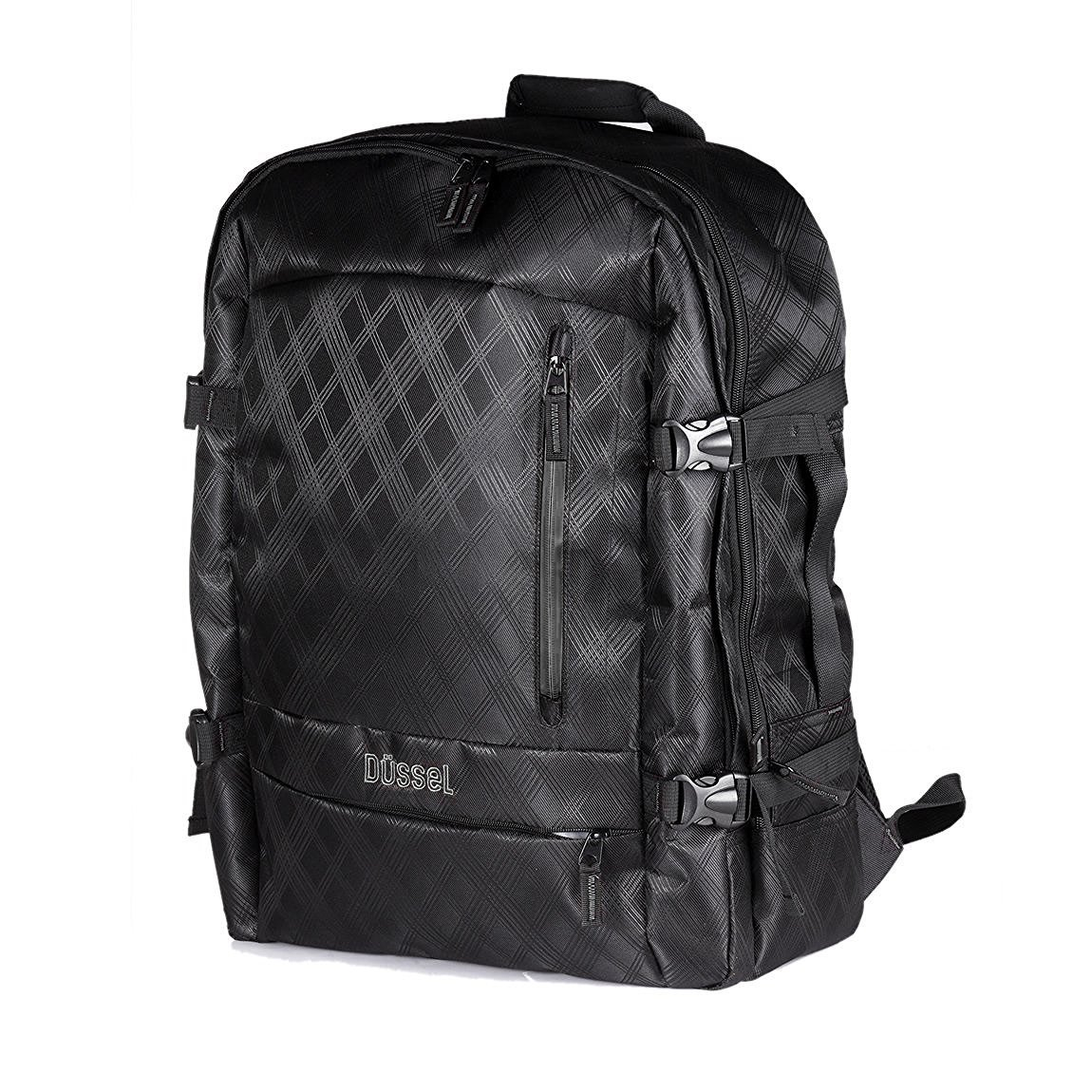 """Düssel Laptop-Backpack fürs Handgepäck (Easyjet Ryanair Lufthansa, bis 17"""") Laptops zu 55×40×20cm"""