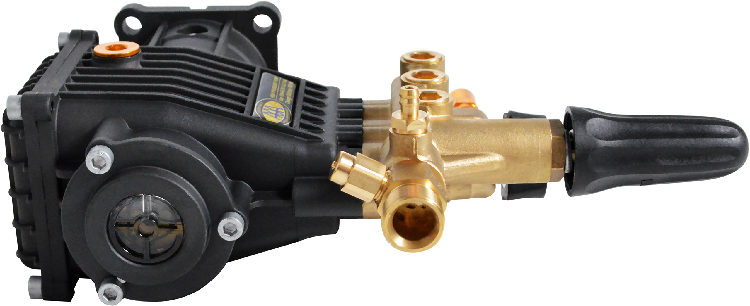 SIMPSON Cleaning 90037 Triplex Plunger Horizontal Pressure Washer Replacement Pump 8.7GA12 3400 PSI @ 2.5 GPM with Brass Head and PowerBoost Technology