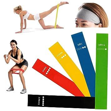 DAJIABUY Bandas de ejercicios Bandas de resistencia con vendas deportivas Bandas de resistencia pesadas de yoga