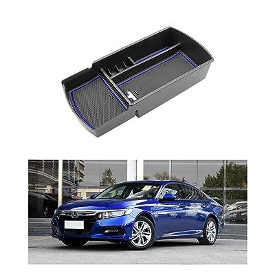 R RUIYA 2020 Accord Car Accessory Center Console Organizer Tray Armrest Storage Box Compatible LX Sport EX EX-L Touring EX-L (Blue): Automotive