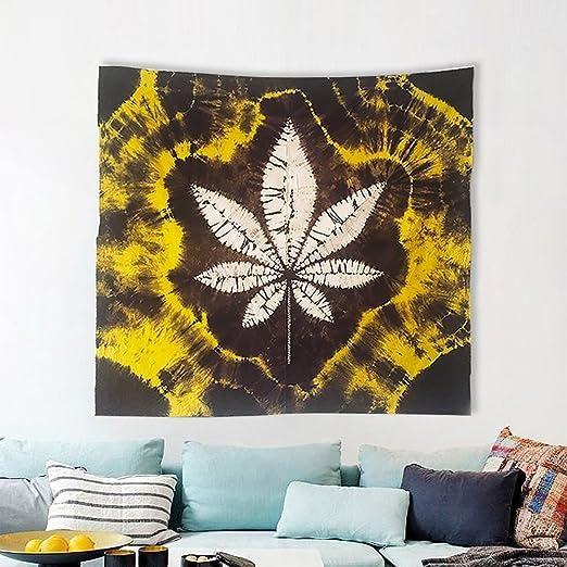 KINO Tapiz para Colgar en la Pared, Diseño de Hojas de Marihuana y ...