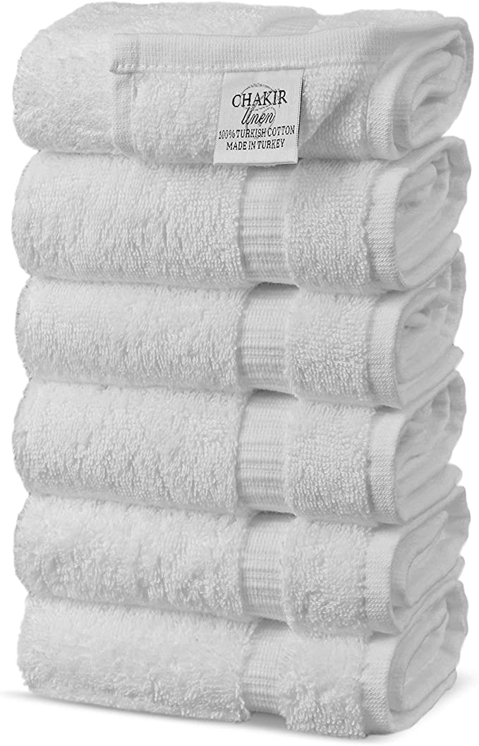 Chakir Turkish Linens Luxury Hotel Spa 100 Cotton Premium Turkish Hand Towels 16 X 30 Set Of 6 White Hc Wc Gry St 2 Parent Home Kitchen Amazon Com