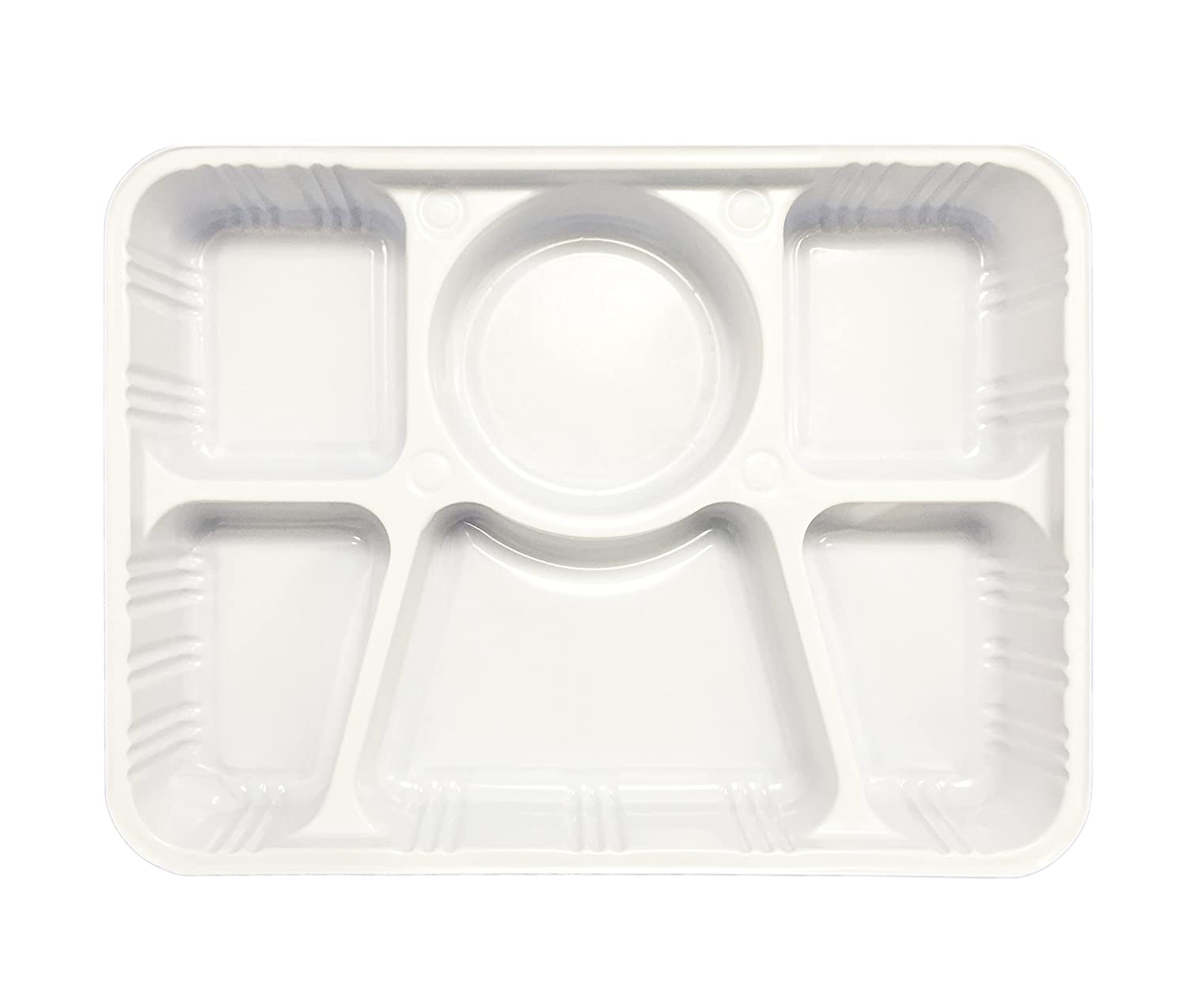 Ekarro 6 Compartment Plastic Plate White by Ekarro: Amazon.ca: Home ...