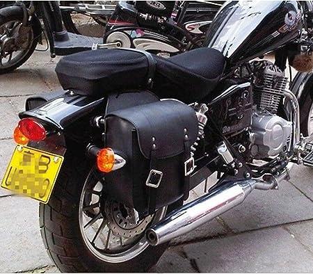 Ecosway Universal Motorrad Pu Leder Side Hängende Satteltasche Für Honda Suzuki Yamaha Kreuzer Harley Car Body Zwei Flanken Hang Motorrad Dekoration Werkzeug Side Bag 2 Stück 1 Satz Auto