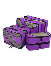 Eono Essentials 6 Set cubes d'emballage, 3 différentes tailles Voyage bagages d'emballage Organisateurs Violet