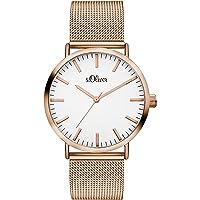 S.Oliver Damen Analog Quarz Armbanduhr SO-3146-MQ