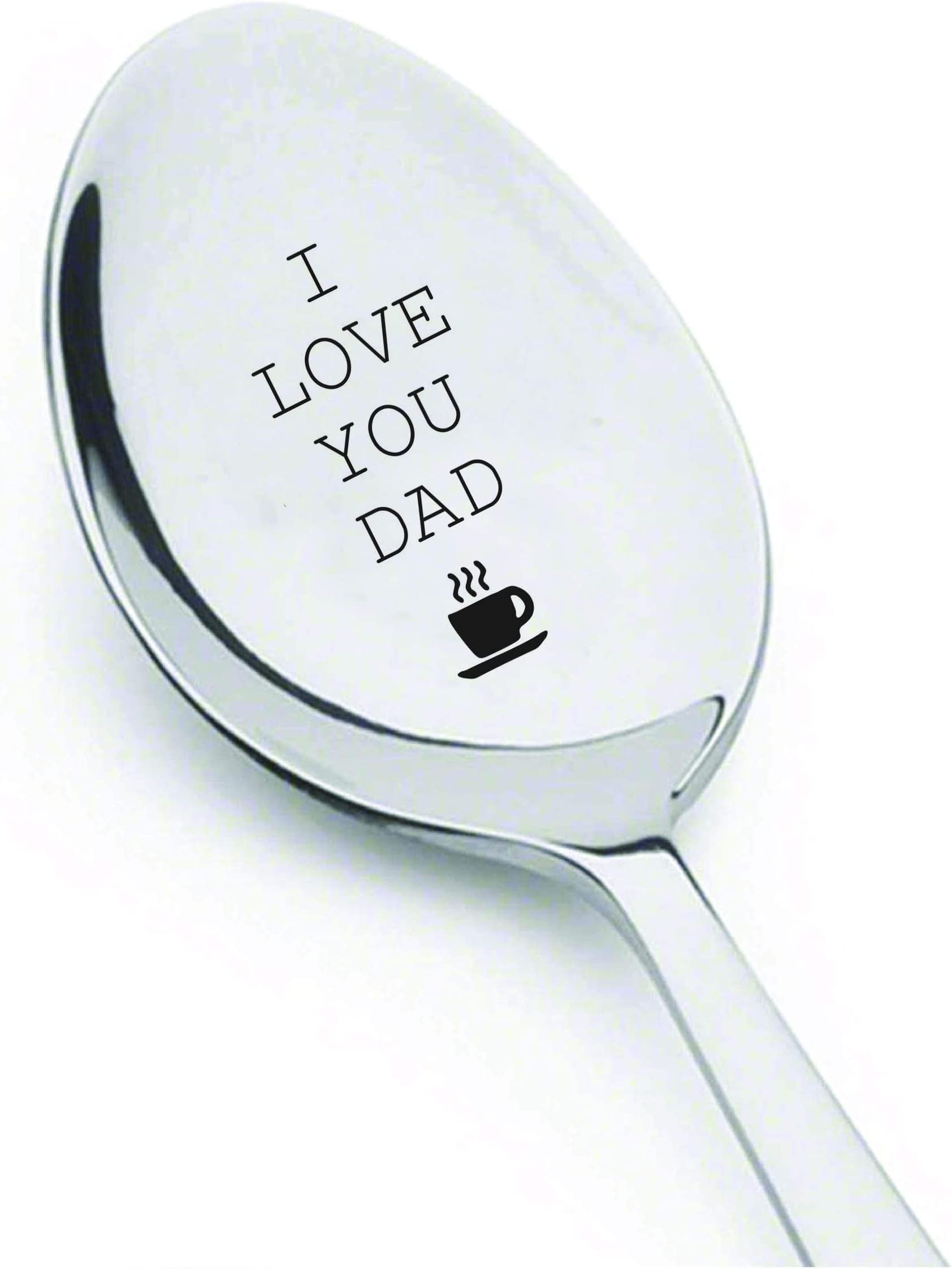 Fathers Day Gift Dad/'s Ice Cream Spoon Gift for Dad Ice Cream Lover Engraved Silverware Gift for Father Ice Cream Spoon