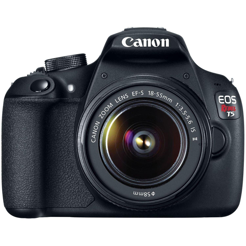 Canon EOS Rebel T5 18.0MP Digital SLR Camera Kit with EF-S 18-55mm IS II Lens - Black (Renewed)