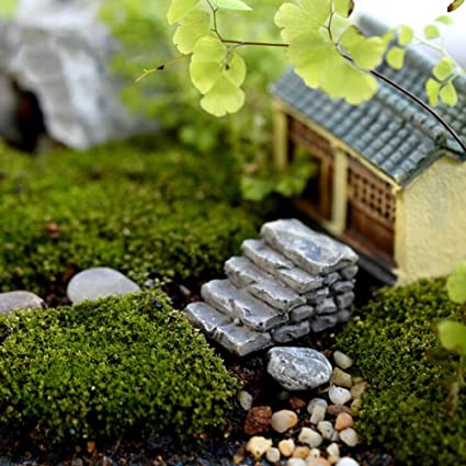 gold happy 2 styles steps stairs fairy garden miniatures gnomes moss terrariums resin crafts diy home - Fairy Garden Miniatures