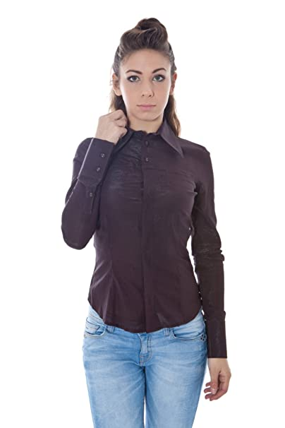 Phard P1302635533700 NEJA Camisa con Las Mangas largas Mujer Marron 2914 S: Amazon.es: Ropa y accesorios