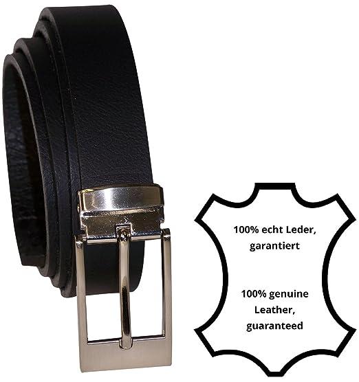 genuine leather antique silver buckle FRONHOFER Mens belt dress belt