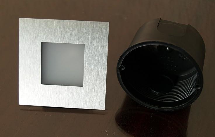 6 Er SET Simple LED Wand U0026 Treppenbeleuchtung Treppenlicht 2W 230V  +Einbaudose 21/. Für Größere Ansicht Maus über Das ...