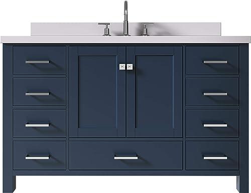 ARIEL 55″ Inch Midnight Blue Bathroom Vanity