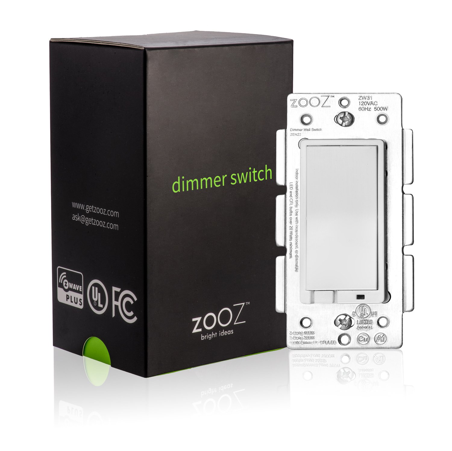 Zooz Z-Wave Plus Wall Dimmer Switch ZEN22 (White) VER. 2.0, Works ...