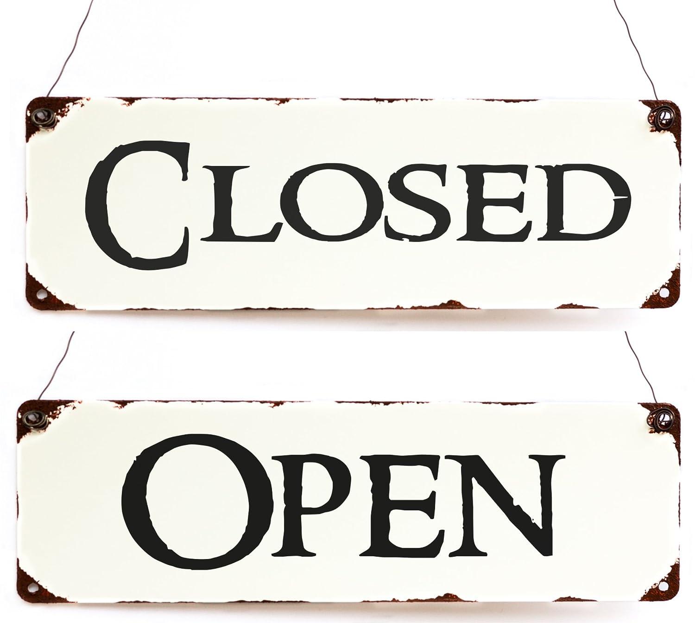 Cartel Open/Closed Reversible - Rótulo - Placa para puerta ...