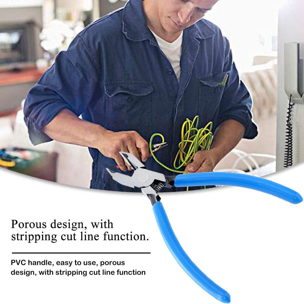 FRjasnyfall Pince diagonale en fil Pince /à d/énuder lat/érale de type E de typeE Bleu 150mm Pince /à d/énuder Pince /à d/énuder Outils /à main multitool