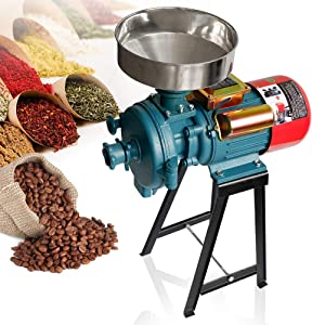 Electric Grain Grinder Mill, 3000W 110V Corn Grinder Mill Electric, Dry Cereals Rice Coffee Wheat Corn Mills with Funnel, Grain grinder mill powder machine, (Dry Grinder)