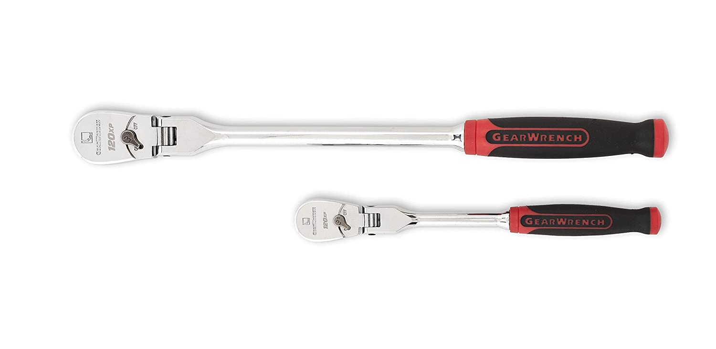 "GEARWRENCH 2 Pc. 1/4"" & 3/8"" Drive 120XP Dual Material Flex Head Teardrop Ratchet Set - 81204P"