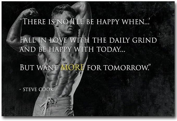 New Steve Cook Fitness Physique Models Bodybuilding Custom Poster Art T-375