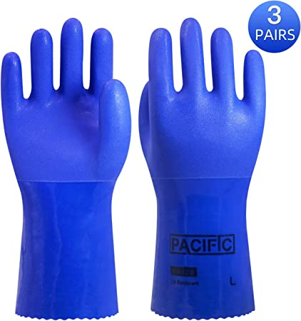 10 X Jersey Lined Nitrile Gloves High Grip For Heavy Duty Construction Work