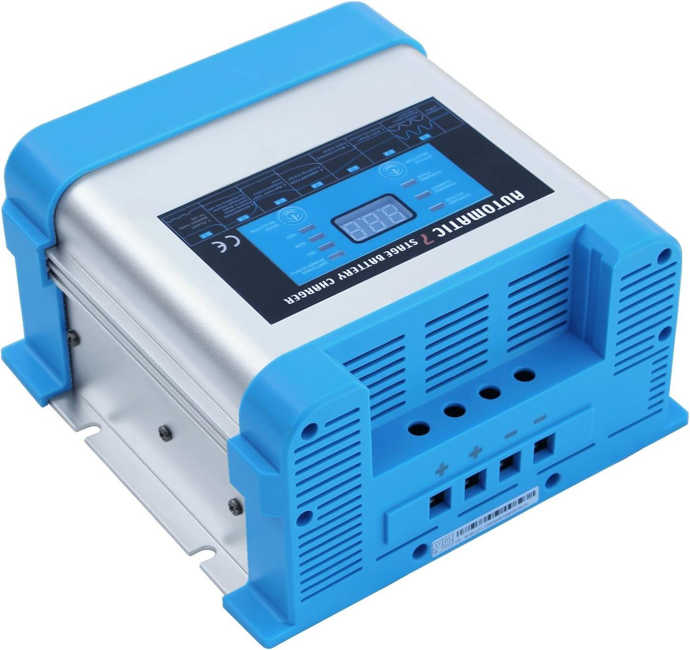 Chargeur de batterie automatique intelligent multi-/étapes 10 A 12 V pour un chargement s/ûr sans surveillance dune ou plusieurs batteries 12 V /à partir du secteur 230 V AC