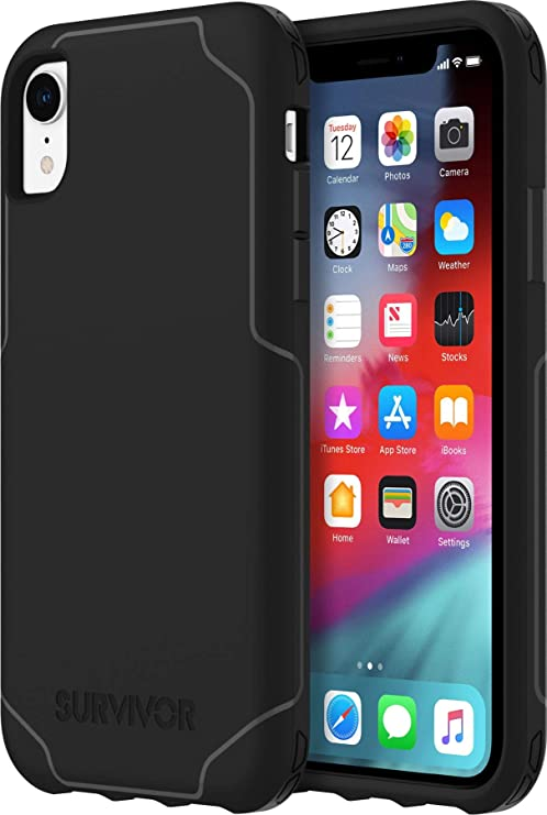 buy online 49979 5d8e8 Griffin Griffin Survivor Strong for iPhone XR, Black - Ultra-Thin,  Ultra-Protective CASE for iPhone XR