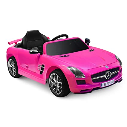 Amazon Com Kid Motorz Mercedes Benz Sls Amg In Pink 12v Toys Games