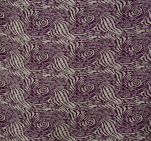 Knitwit Wave Print 42 Inches Wide Cotton Fabric for Sewing by The Yard - Plum ()