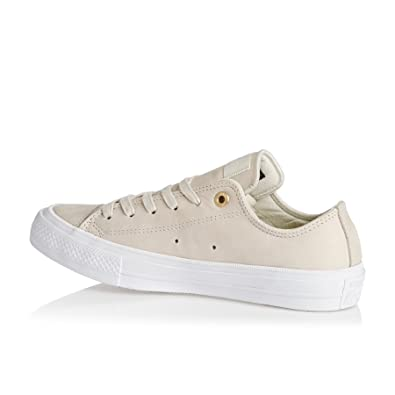 Converse Womens Chuck II Craft Low Top White Leather Trainers 6 US