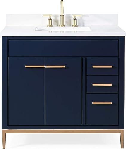 36 Beatrice Modern Navy Blue Bathroom Vanity TB-9888NB-V36