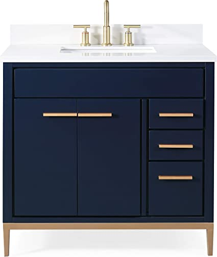 36 Beatrice Modern Navy Blue Bathroom Vanity Tb 9888nb V36 Amazon Com