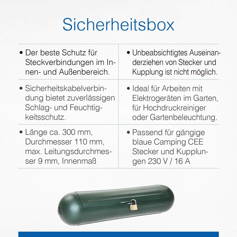 ideal f/ür den Garten//Rasenm/äher 3er Pack spritzwassergesch/ützt 48707 as Schwabe Sicherheitsbox