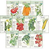 Botanical Interests Non-GMO Starter Veggies Seed Collection - 10 Packets with Gift Box