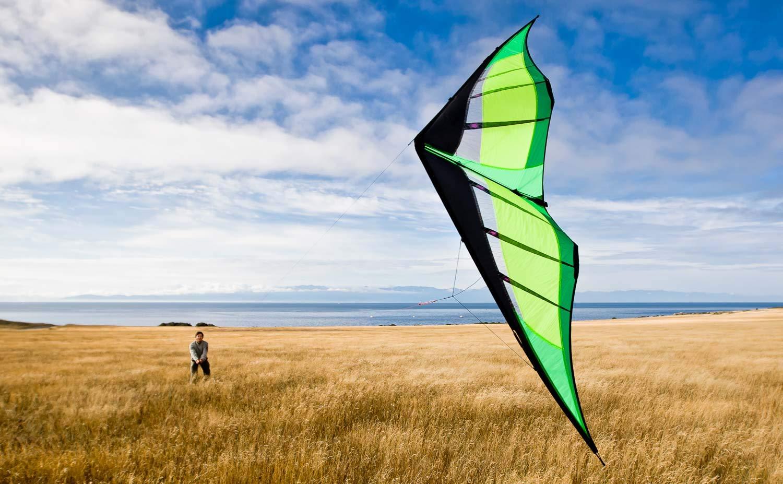 Prism Hypnotist Dual-line Stunt Kite, Citrus by Prism Kite Technology (Image #3)