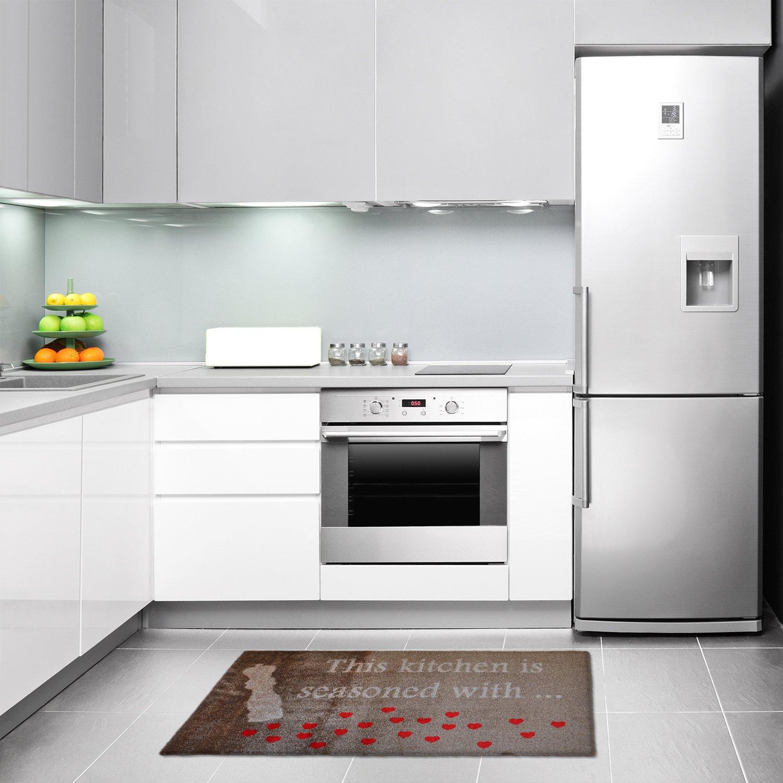 LifeStyle-Mat Designer Fussmatte Fussmatte Fussmatte Küche – Fussmatten Rutschfest und waschbar – Schmutzfangmatte - Fussabstreifer – BRAUN 67x110cm B0112J8PAY Teppiche 1a702f